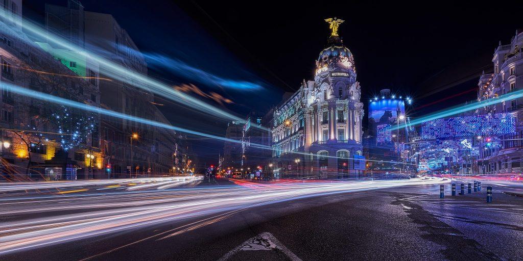 Madrid X-mas lights