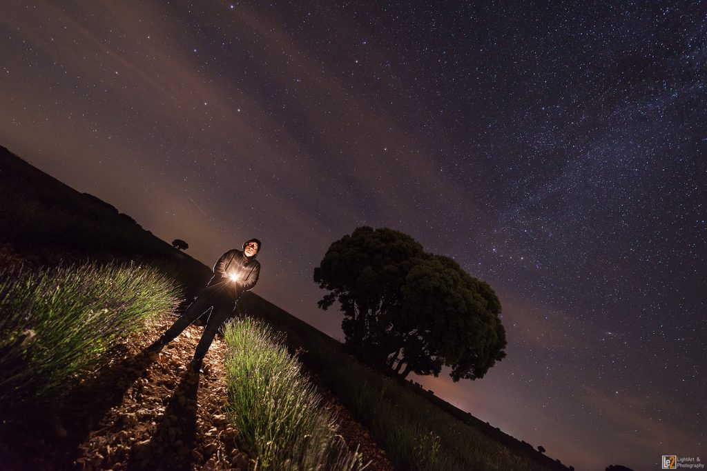 Agustín Brihuega Lavender Harvester light painting